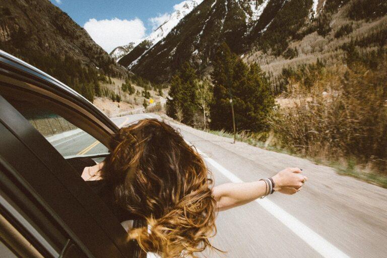 car, landscape, mountain